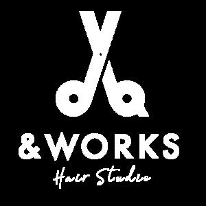 深夜美容室アンドワークスのロゴ画像です。