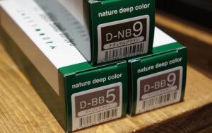 深夜美容室アンドワークスのこだわりカラー材画像です。